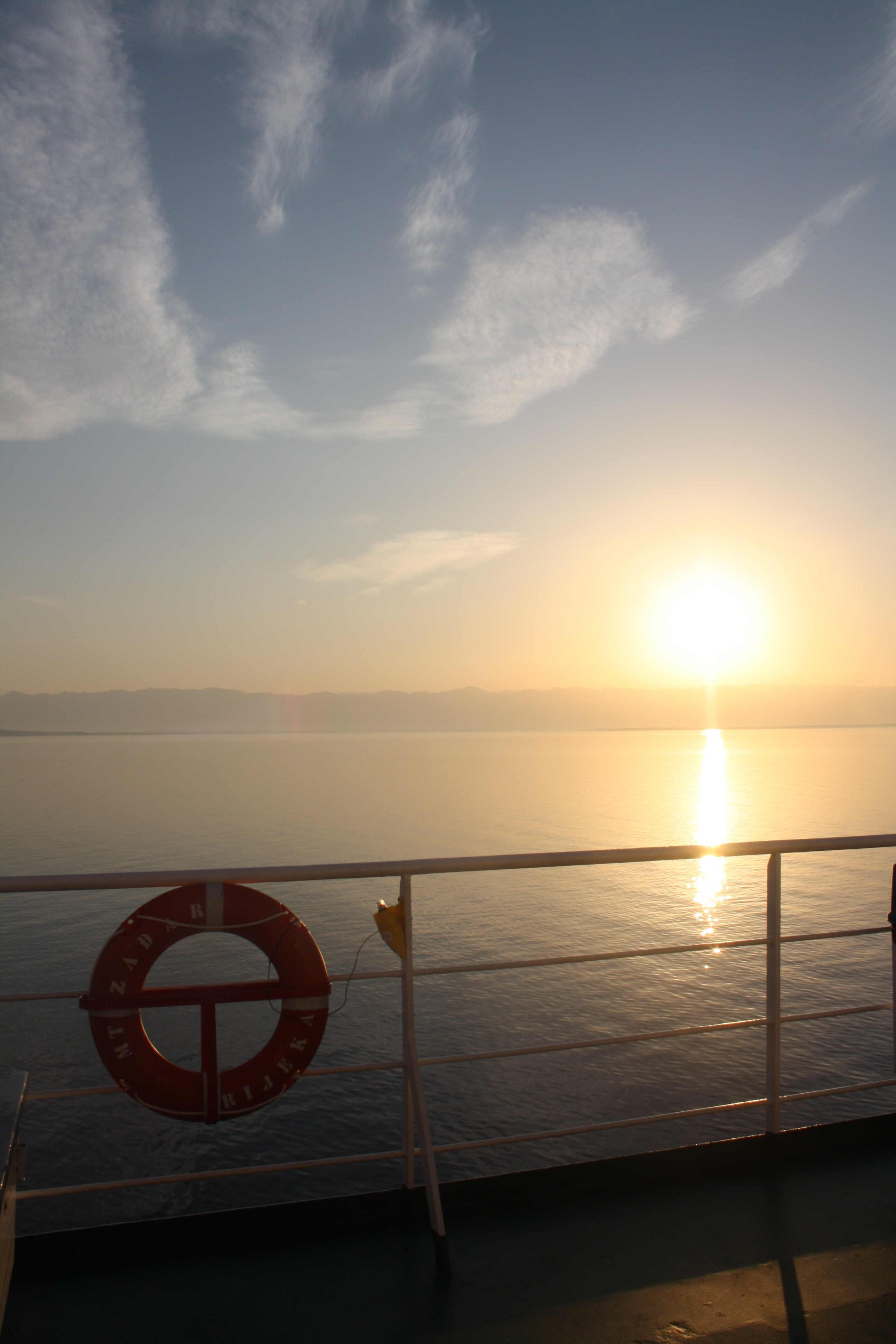 Ferry crossing Italy to Croatia