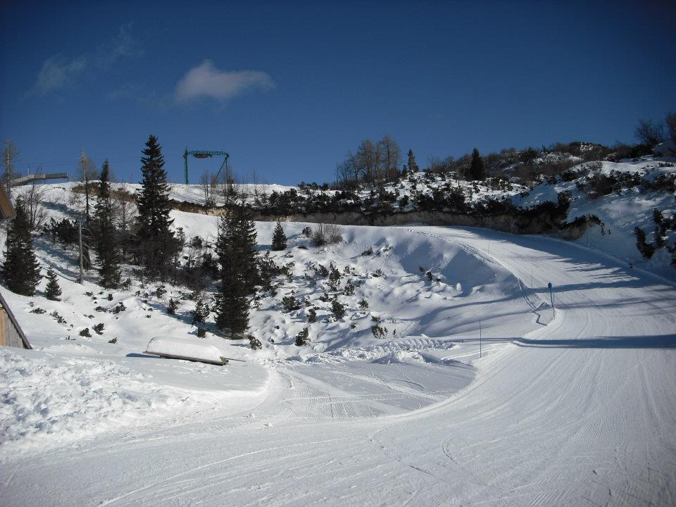 Blue run at Vogel Ski Centre