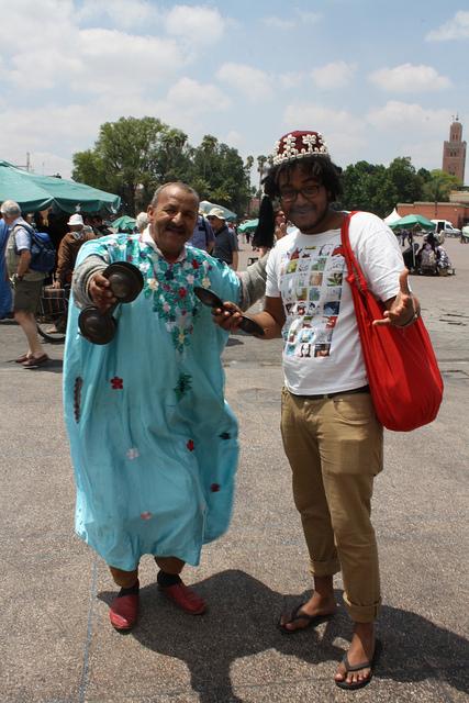 Mean Berber in the Djaama El Fna